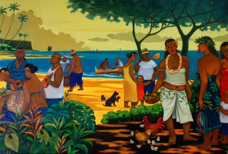 gFamily gathering on the beach